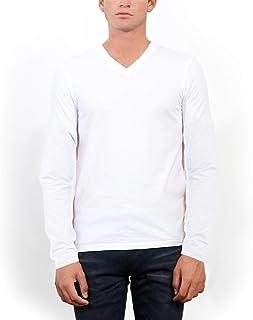 (スリードッツ) three dots メンズ Vネック 長袖 Tシャツ
