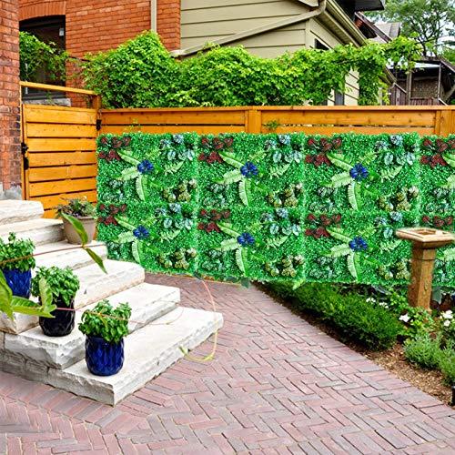 Foxglove Künstliche Hecke Sichtschutzhecke Pflanzen Hecke Wanddekoration - Künstliche Hecken Paneele/Garten Privatsphäre Kunststoff Zaun Bildschirm, 60×40cm, UV-Schutz, Kein Ausbleichen