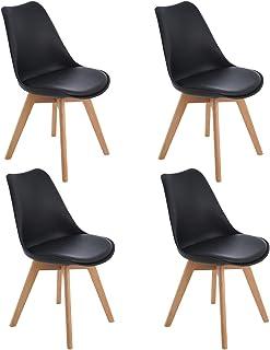 Amazon Fr Chaise Scandinave Noir