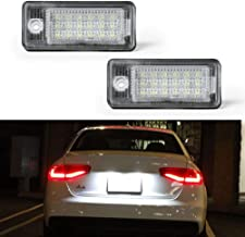 License Plate Light, License Tag Lights, Gempro 2pcs Xenon White LED Car License Number Plate Lamps For Audi A3 S3 A4 S4 A...