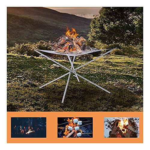 Antlep Braciere portatile per campeggio all'aperto 16,5 pollici maglia braciere con acciaio inox per camino, esterno, patio, cortile e giardino, include borsa per il trasporto