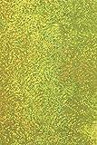 Baier & Schneider Holographische Folie (Bastelfolie) Holografie-Klebefolie, 100 cm x 50 cm, gelb,