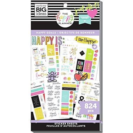 The Happy Planner Scrapbooking Supplies Great for Projects 100 Sheets The Happy Planner Mega Sticker Value Pack Multi-Color All in Season Theme Scrapbooks /& Albums 3,281 Stickers Total