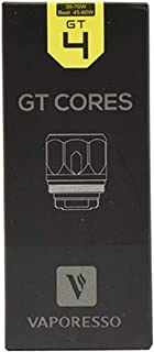 Vaporesso Gt Núcleo Bobinas para NRG Tanque GT2 GT4 GT6 GT8 Gt Ccell - 3 Paquetes de (sin Nicotina) - GT4-0.15Ω - (30w to 70w)