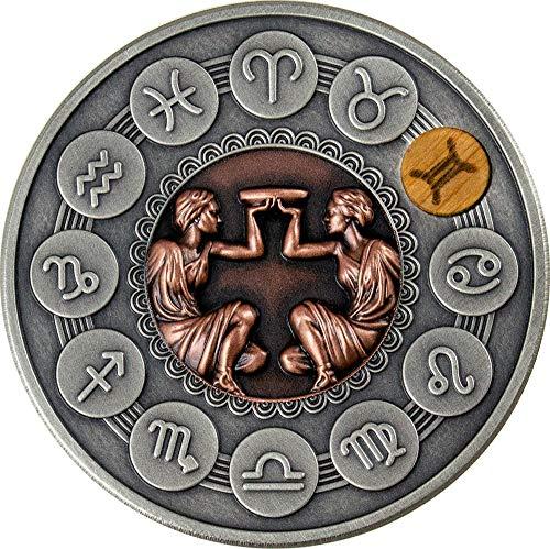 Power Coin Gemini Zodiac Signs 1 Oz Moneda Plata 1$ Niue 2020