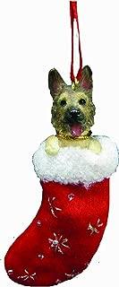 German Shepherd Christmas Stocking Ornament with