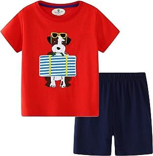 تی شرت ست لباس نخی Toddler Little Boys