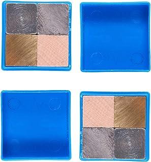 Balacoo 8pcs Density Cubes Set Aluminum Copper Iron Wood Cubes 2cm for School Science Experiment Equipment Specific Gravit...
