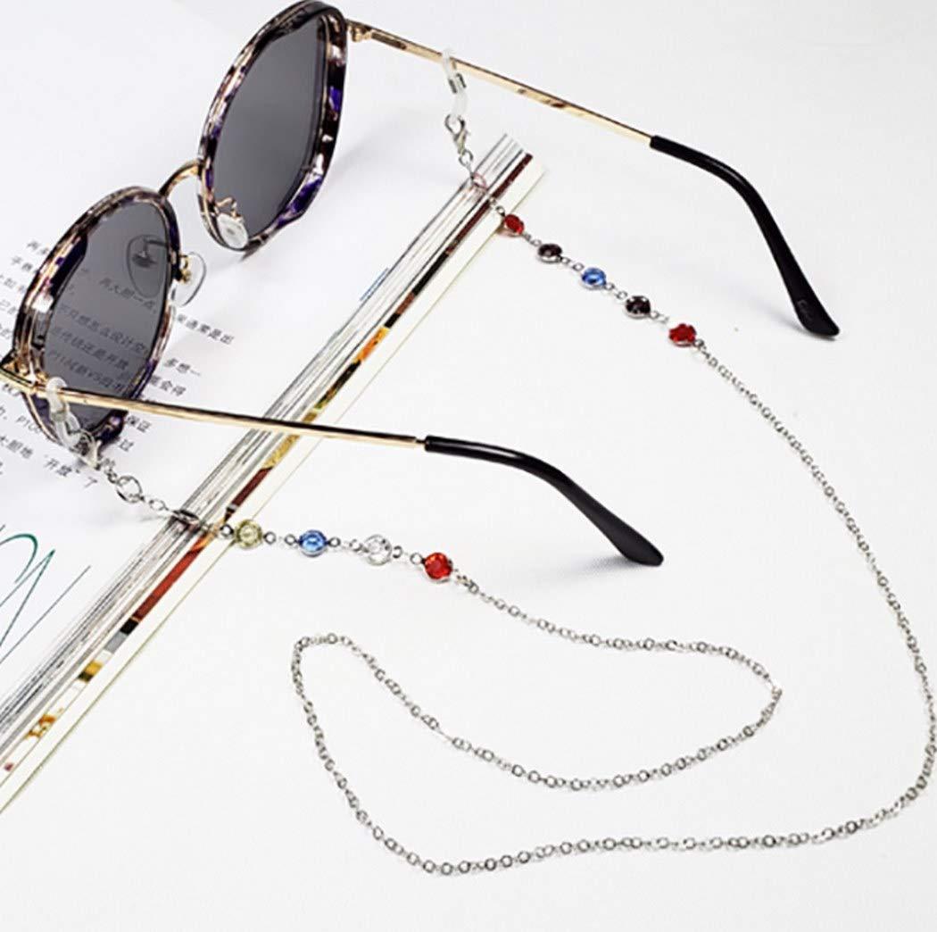 Ursumy Colorful Beaded Fort Worth Mall Eyeglasses Time sale Sunglasses Necklace Holder Str