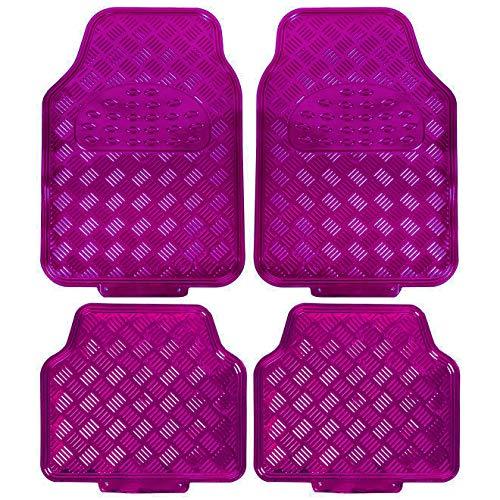 eSituro Universal Fußmatten Automatten Aluminium ALU Chorm Look Pink SCM0069