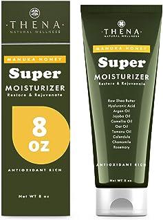 Manuka Honey Cream Moisturizer Intense Moisturizing Dry Skin Repair & Relief Lotion For Face Body Hands Anti Aging Hyaluro...