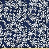Ambesonne Marineblauer Stoff von The Yard,