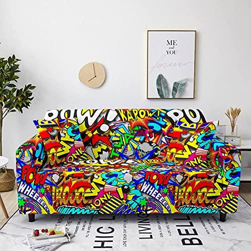 Gpink Funda De Sofá Antideslizante De La Serie De Colores Divertidos, Funda De Sofá Completa, Sofá De Tela Elástica De Gran Tamaño para El Hogar