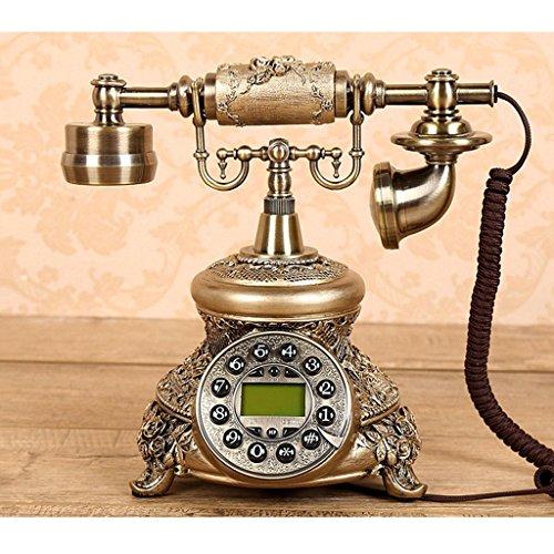 ZhuFengshop Teléfono Rotary Classic Vintage Teléfono Retro Diseño con Cable Imitación de...
