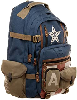 Marvel Marvel Avengers Captain America Backpack Surprise Backpack Casual Fashion Student Computer Bag-Captain America Scho...
