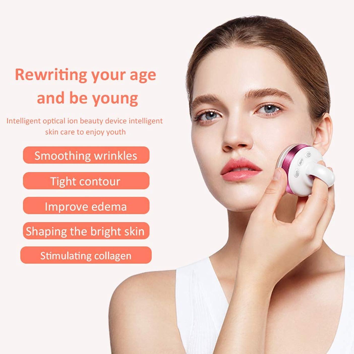 長くする最大のくしゃくしゃ顔と体のプロフェッショナルのためのRfマシン、EMSマッサージャー、ハンドヘルドフェイシャルイオン導入機器、家庭用美容機器振動機器,紫色