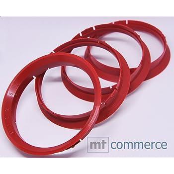 Crk 4x Zentrierringe 76 0 X 72 6 Mm Rot Felgen Ringe Made In Germany Auto