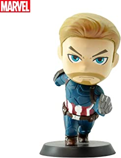 Marvel Bobblehead Captain America Marvel Heros Action Figure Collectible Bobble Head Perfect for Home/Holiday Decoration, Friend Gift, 4 Inches (Marvel Certificate)
