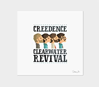 """Stampa"""" Creedence Clearwater Revival"""". Disponibile in due misure: A4 / A3."""