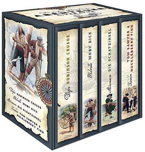 Die großen Klassiker der Abenteuerliteratur (im Schuber) - Robinson Crusoe - Moby Dick - Die...