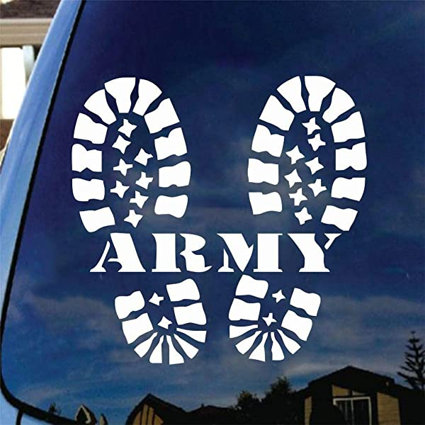 乙烯基贴纸优质贴花陆军战斗靴汽车退伍军人兽医美军 6 英寸