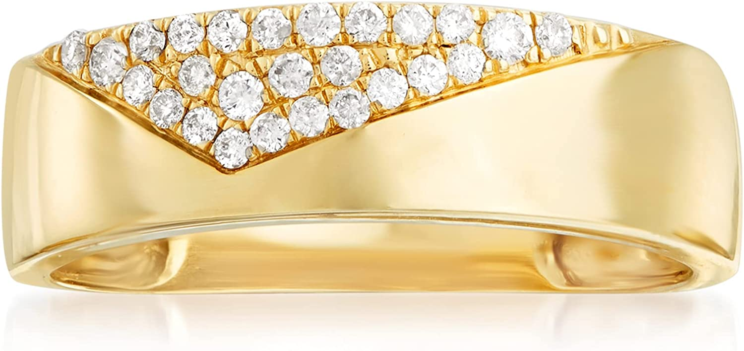 Ross-Simons 0.15 ct. t.w. Pave Diamond Ring in 14kt Yellow Gold