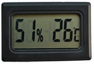xdrfxrghjku Termómetro Higrómetro Mascota Reptile Producto Tanque De Pescado Integrado Mini Tipo Electronic Digital Displa...