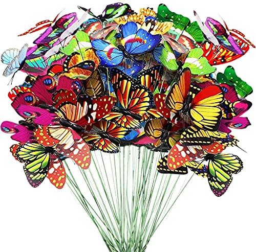 ECHG 50Pcs Garden Butterflies St...