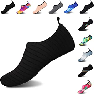 Mens Womens Water Shoes Barefoot Beach Pool Shoes Quick-Dry Aqua Yoga Socks for Surf Swim..