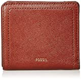 Fossil Women's Logan Faux Leather RFID Blocking Small Bifold Wallet, Brown