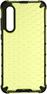 Beehive Hard Back Cover With Silicone Edges For Xiaomi Mi 9 Lite - Lime Green Black