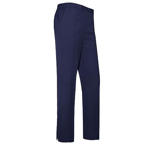 Women Ladies Trousers Classic Pants Girls School Uniform Half Elasticated  Waist Office Bottoms UK 10- 756e594070