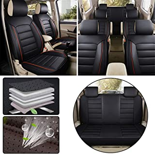 for Mitsubishi Seven-Seats Car Seat Covers Sets PU Leather Car Interior Seat Cushion Car Seat Cover Seat Back Mat Protector Black