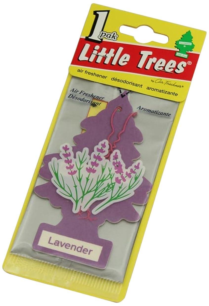 魅力ほかに自分のためにLittle Trees 吊下げタイプ エアーフレッシュナー ラベンダー 4枚セット(4P)