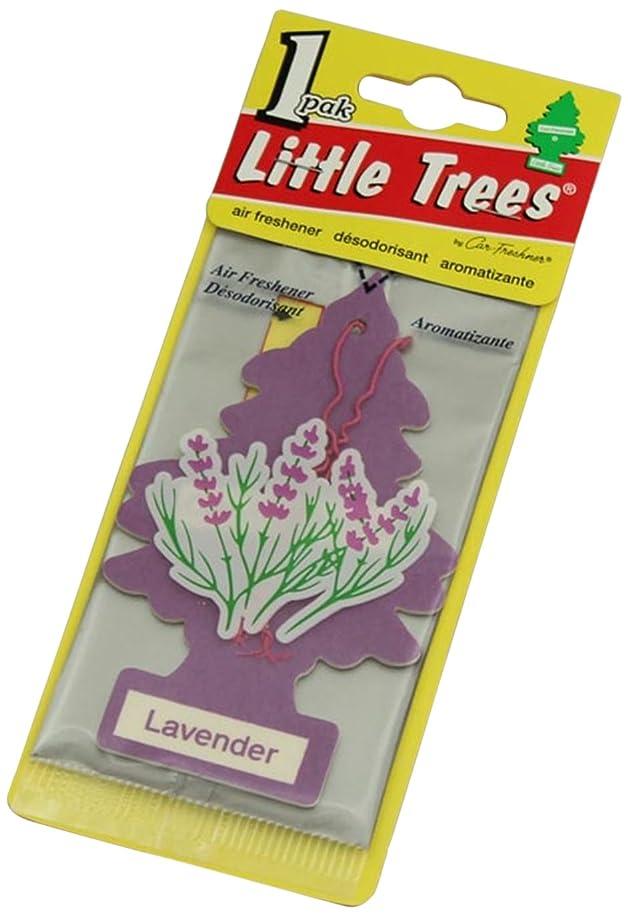 評価可能欠点白菜Little Trees 吊下げタイプ エアーフレッシュナー ラベンダー 4枚セット(4P)