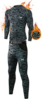 MEETYOO Men's Thermal Underwear Set, Wicking Long Johns Quick Dry Base Layer Sport Compression Suit for Workout Skiing Run...
