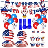 ✔Best FOR PATRIOTIC THEME PARTY:This 4th of July Party Supplies will make everyone scream! This cool and practical Independence Day party kit is enough to provide you with the necessities, and immersing your guests into an unforgettable experience fo...