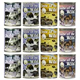 Taste of the Wild Grain-Free Canned Dog Food Variety Pack - Wetlands, Pacific Stream, High Prairie,...