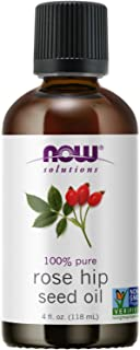 NOW Essential Oils, Rose Hip Seed Oil, 100% Pure, Nourishing and Renewing, For Facial Care, Vegan, Child Resistant Cap, 4-...