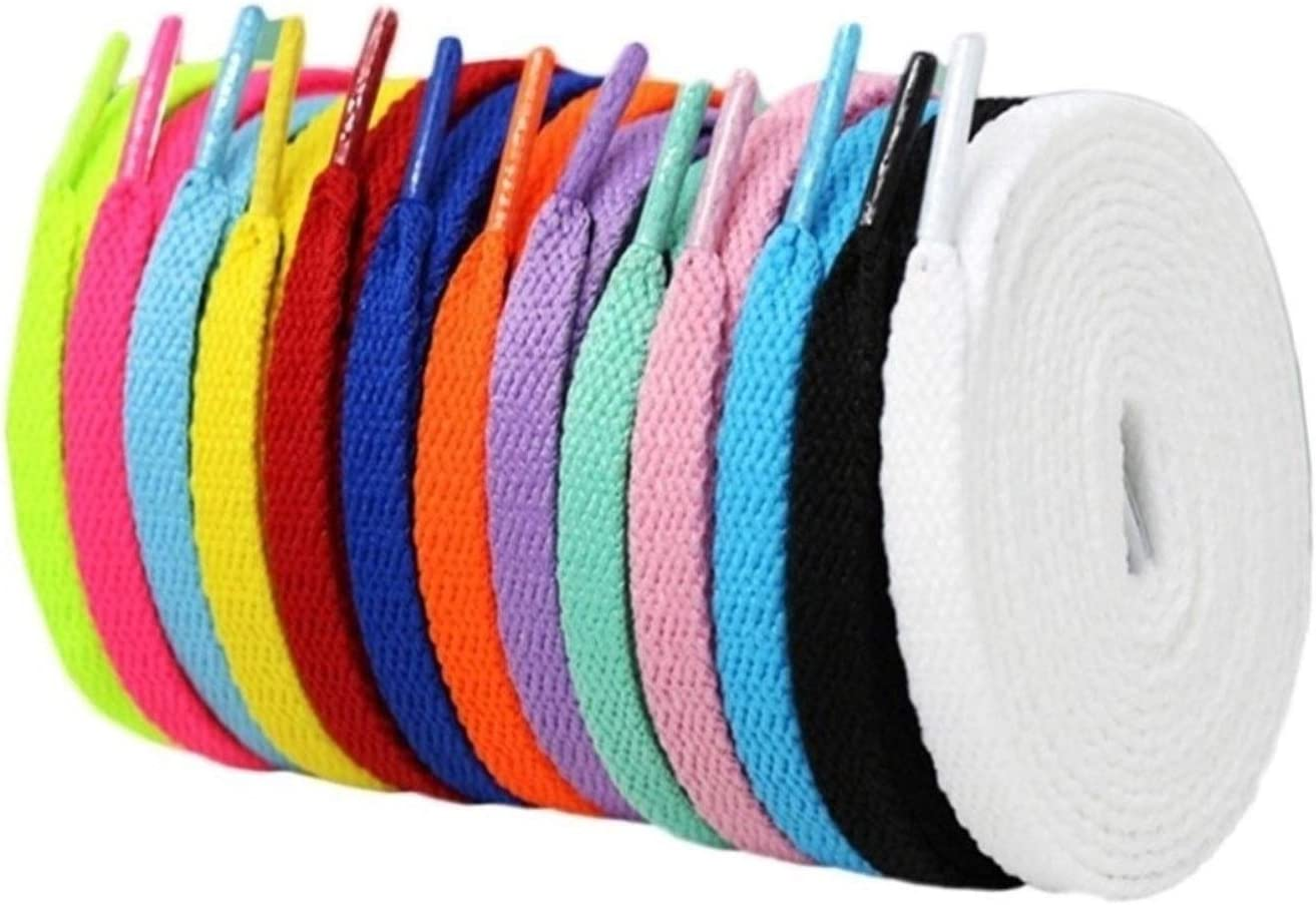 1 Pair Dyed Finally resale start Mail order cheap Shoe Laces Flat Hiking Shoelaces Boots Sneaker