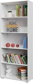 comprar comparacion Deuba Estantería libreria Biblioteca Vela Blanco de 5 estantes 190 cm Mueble de almacenaje Oficina Dormitorio salón