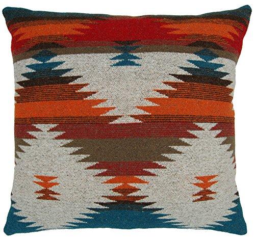 "Ruth&Boaz Inka Pattern Square Decor Pillow Case Cushion Cover (18""x18"", M-Orange)"