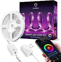 RGB Tira LED WiFi- Lumary 3M Luces LED Kit Funciona con Alexa/Google Home/App, Función de Tiempo,Sync con Música,Multicolor Tira de LED Kit,Perfecto para Navidad,Fiesta y Decoración Doméstico.