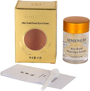 Simengdi Silk Essence Eye Serum – Bio Gold Pearl Gel for Dark Circles and Eye Puffiness – Anti Aging, Anti Wrinkle and Cell Renewal Serum - Chinese Herbs and Pearl Powder 1 Ounce