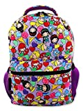 Disney Princess Emoji Girl's 16 Inch School Backpack Bag (One Size, Purple)