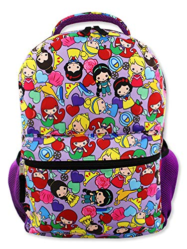 Disney Princess Emoji Girl's 16 Inch School Backpack Bag (One Size, Purple)