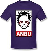 Hytgred Dog-Bruce-lee-dj Anbu Summer Air Permeability Handsome Leisure Time Purple Short Sleeve T-Shirt