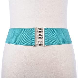 SGJFZD New Versatile Stretch Elastic Belt Fashionable Accessory Jumpsuit Belt Waistband Wide Clothing (Color : Light Blue, Size : 63cm)