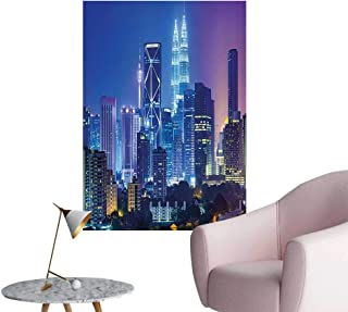 Wall Decoration Wall Stickers Scenery Image with Kuala Lumpur India Cityscape Skyscrapers Artwork Print Print Artwork,28
