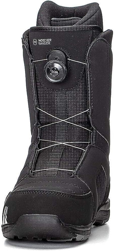 Mens Black, 12 Nidecker Ranger BOA Snowboard Boots